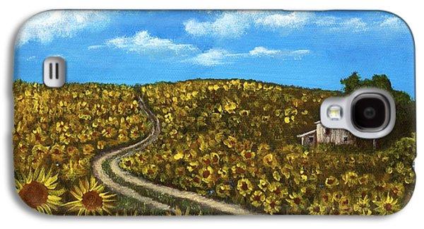 Sunflower Road Galaxy S4 Case by Anastasiya Malakhova