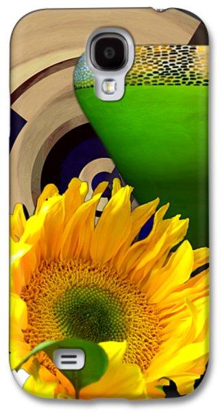 Sunflower Still Life Motif Tile By Delynn Addams Galaxy S4 Case