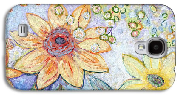 Floral Abstract Galaxy S4 Case - Sunflower Tropics Part 2 by Jennifer Lommers