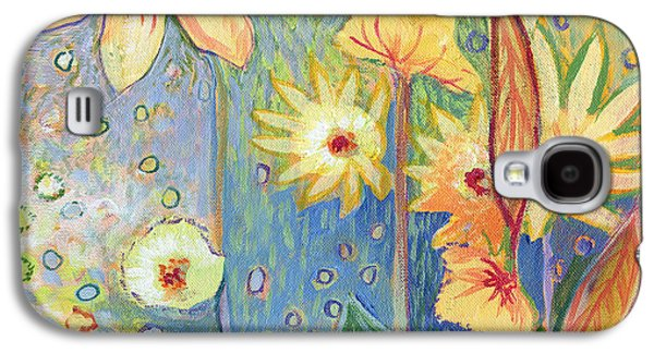 Sunflower Tropics Part 3 Galaxy S4 Case by Jennifer Lommers