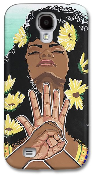 Sunflowers And Dashiki Galaxy S4 Case by Alisha Lewis
