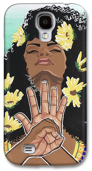 Sunflower Galaxy S4 Case - Sunflowers And Dashiki by Alisha Lewis
