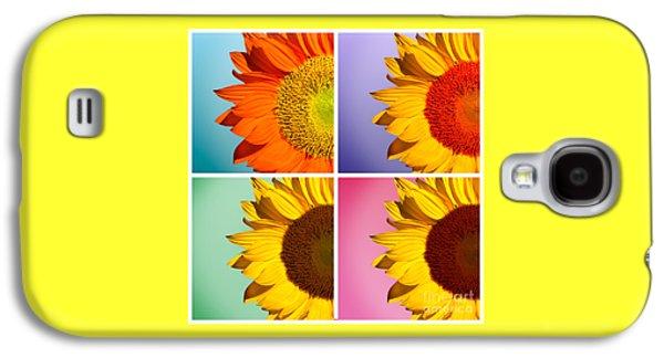 Sunflower Galaxy S4 Case - Sunflowers Collage by Mark Ashkenazi