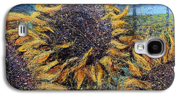 Sunflowers In Field Galaxy S4 Case