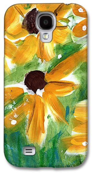 Sunflower Galaxy S4 Case - Sunflowers by Linda Woods
