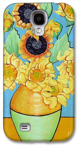 Sunflowers Tribute To Vincent Van Gogh II Galaxy S4 Case