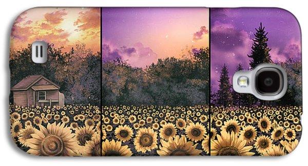 Sunflowers Triptych 2 Galaxy S4 Case