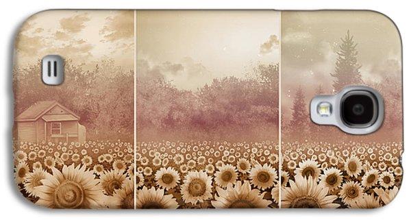 Sunflowers Triptych 3 Galaxy S4 Case