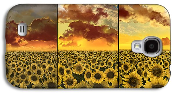 Sunflowers Triptych Galaxy S4 Case