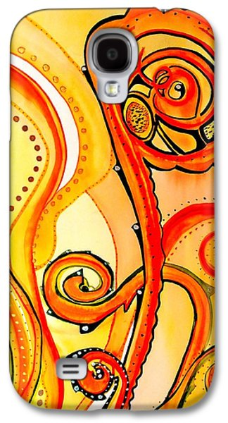Galaxy S4 Case featuring the painting Sunny Flower - Art By Dora Hathazi Mendes by Dora Hathazi Mendes