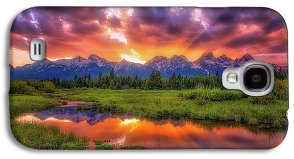 Sunrays Over The Tetons Galaxy S4 Case by Darren White