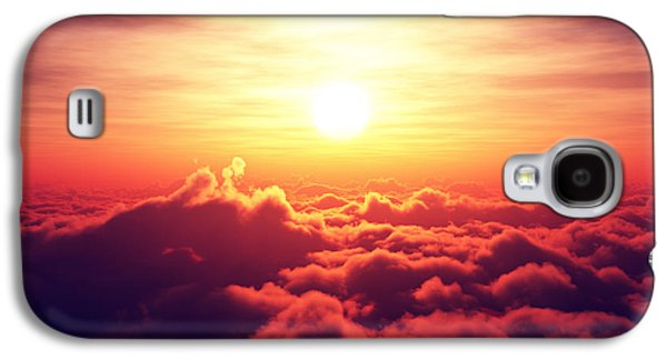 Sunrise Above The Clouds Galaxy S4 Case by Johan Swanepoel