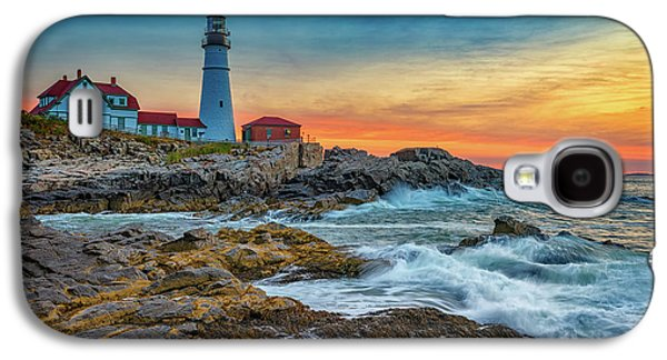 Sunrise At Portland Head Light Galaxy S4 Case by Rick Berk