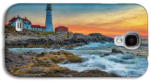 Sunrise At Portland Head Light Galaxy S4 Case