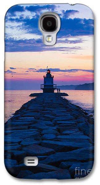 Sunrise At Spring Point Light Maine Galaxy S4 Case by Diane Diederich