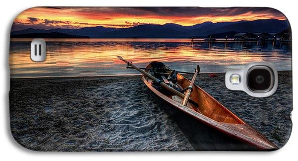 Sunrise Boat Galaxy S4 Case by Matt Hanson