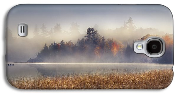 Boat Galaxy S4 Case - Sunrise In Lake Placid  by Magda  Bognar