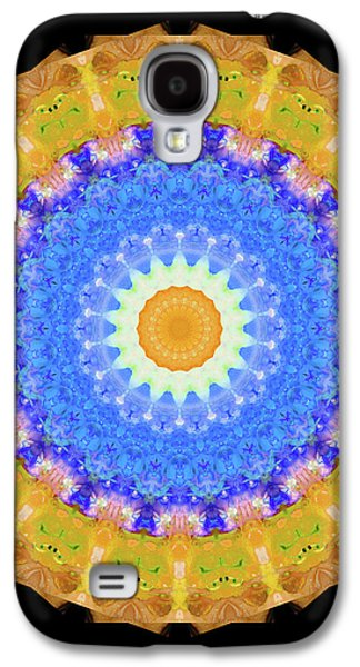 Sunrise Mandala Art - Sharon Cummings Galaxy S4 Case by Sharon Cummings