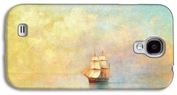 Boat Galaxy S4 Case - Sunrise On The Sea by Georgiana Romanovna