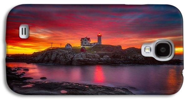 Sunrise Over Nubble Light Galaxy S4 Case by Darren  White
