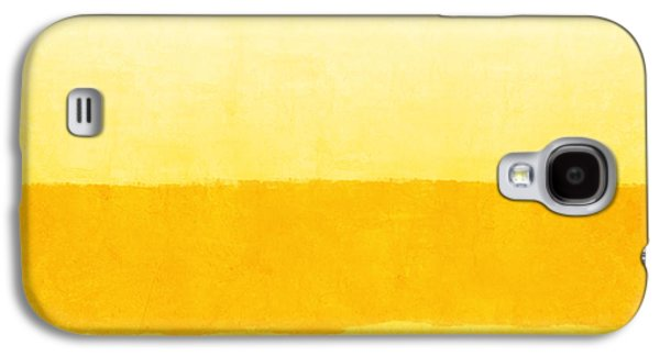 Sunrise- Yellow Abstract Art By Linda Woods Galaxy S4 Case by Linda Woods