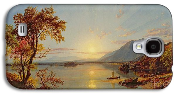 Sunset  Lake George Galaxy S4 Case by Jasper Francis Cropsey