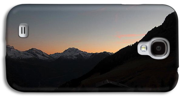 Sunset Afterglow In The Mountains Galaxy S4 Case