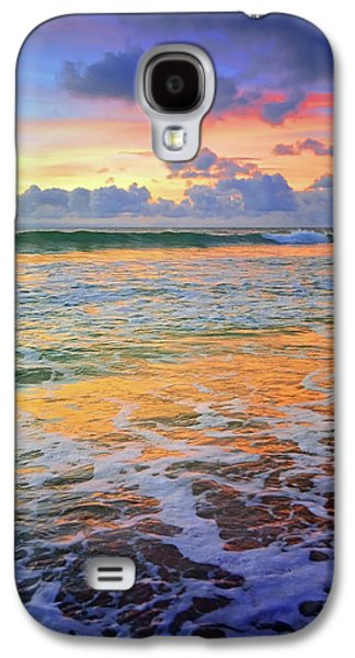 Sunset And Sea Foam Galaxy S4 Case by Tara Turner