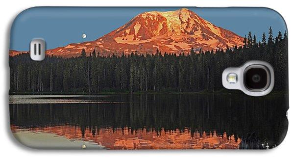 Sunset And Moonrise At Takhlakh Lake Galaxy S4 Case