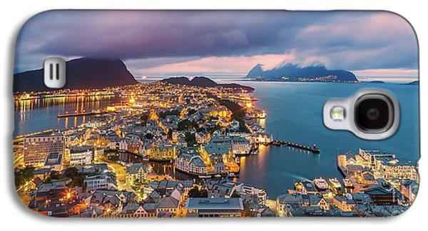 Sunset At Alesund, Norway Galaxy S4 Case