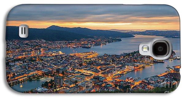 Sunset At Bergen As Seen From Mount Floyen, Norway. Galaxy S4 Case