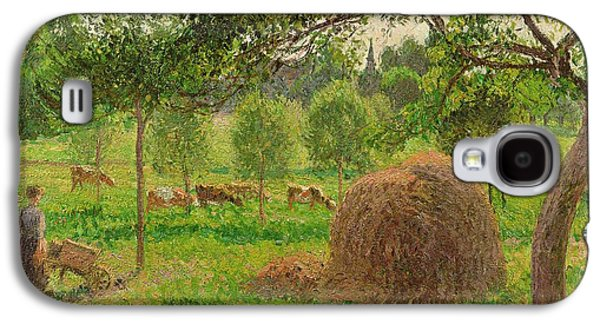 Sunset At Eragny Galaxy S4 Case by Camille Pissarro