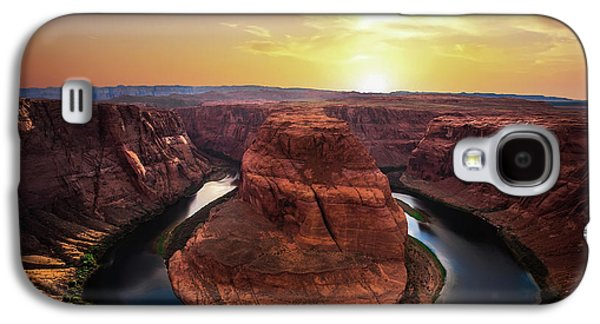 Sunset At Horseshoe Bend Galaxy S4 Case by Larry Marshall