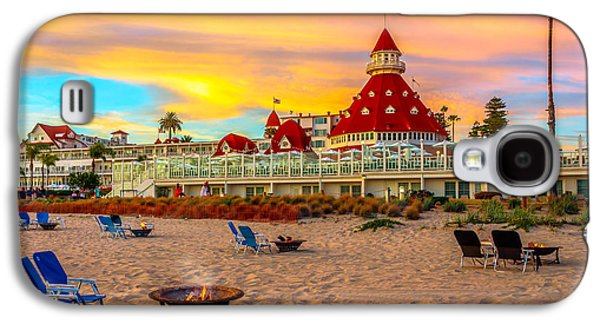 Sunset At Hotel Del Coronado Galaxy S4 Case by James Udall