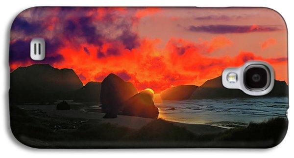 Sunset At Oregon Beach Galaxy S4 Case