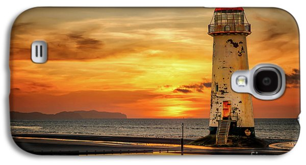 Sunset At The Lighthouse Galaxy S4 Case by Adrian Evans