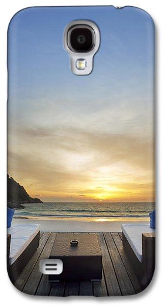 Chair Galaxy S4 Cases - Sunset Beach Galaxy S4 Case by Setsiri Silapasuwanchai