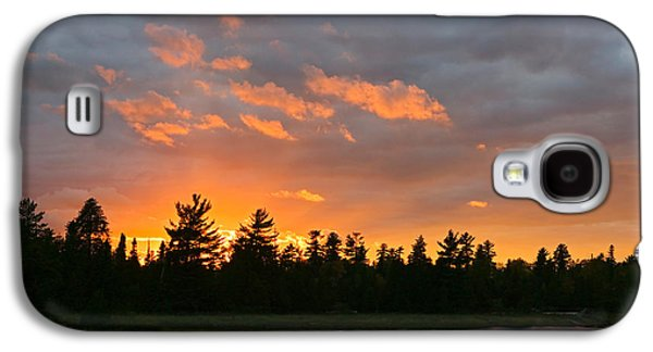 Sunset Behind Silhouetted Forest, Lake Galaxy S4 Case by Panoramic Images