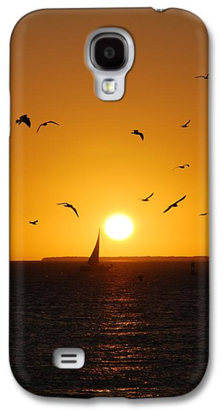 Reflections Of Sky In Water Galaxy S4 Cases - Sunset Birds Key West Galaxy S4 Case by Susanne Van Hulst