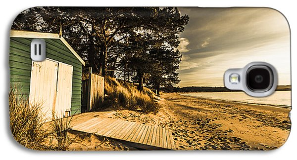 Sunset Boat Shed Galaxy S4 Case by Jorgo Photography - Wall Art Gallery