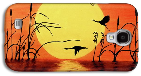 Sunset Geese Galaxy S4 Case by Teresa Wing