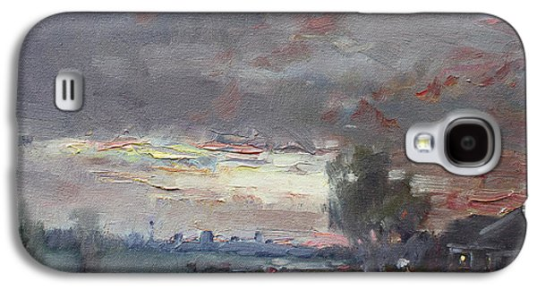 Sunset In A Rainy Day Galaxy S4 Case by Ylli Haruni