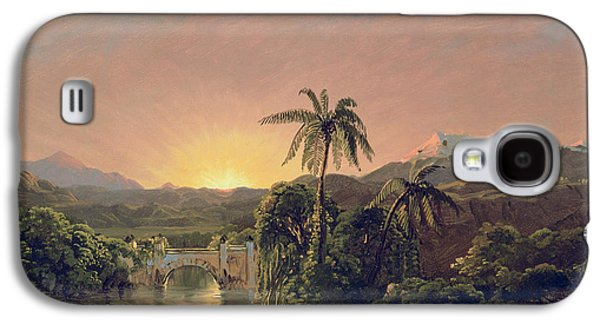 Sunset In Equador Galaxy S4 Case by Frederic Edwin Church