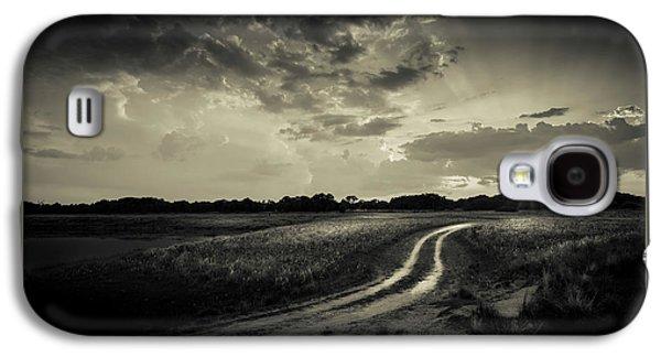 Sunset Lane-bw Galaxy S4 Case