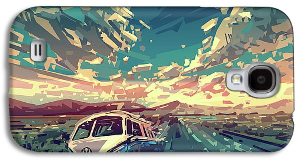 Sunset Oh The Road Galaxy S4 Case