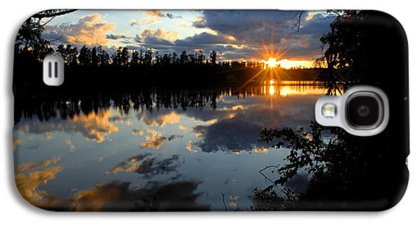 Sunset On Polly Lake Galaxy S4 Case by Larry Ricker