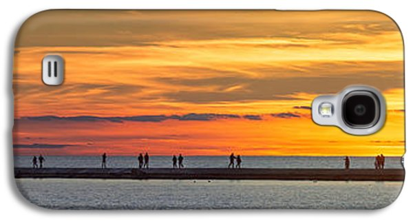 Galaxy S4 Case featuring the photograph Sunset Over Ludington Panoramic by Adam Romanowicz