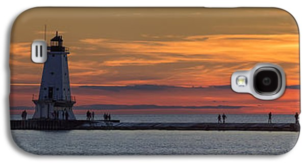 Marquette Galaxy S4 Case - Sunset Over Ludington Panoramic by Adam Romanowicz