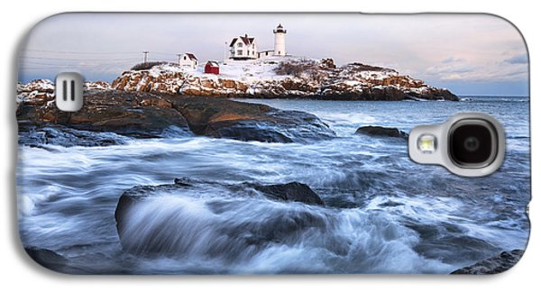 Sunset Over Nubble Light Galaxy S4 Case by Eric Gendron