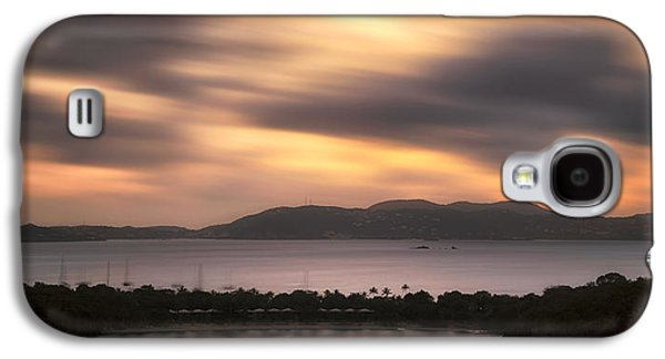 Galaxy S4 Case featuring the photograph Sunset Over St. John And St. Thomas Panoramic by Adam Romanowicz